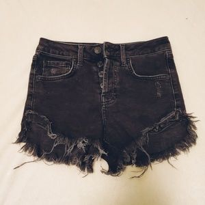 Forever21 Black denim shorts